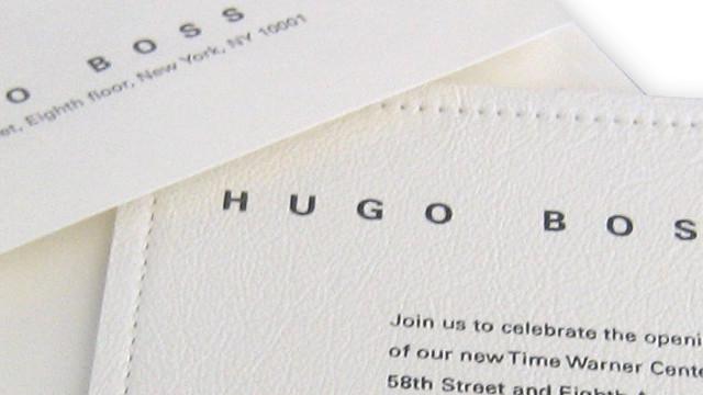 Hugo Boss Invitation
